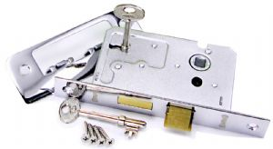 OVO® Standard 2 Lever Sash Locks with Keys Polished Stainless Steel/Chrome Finish